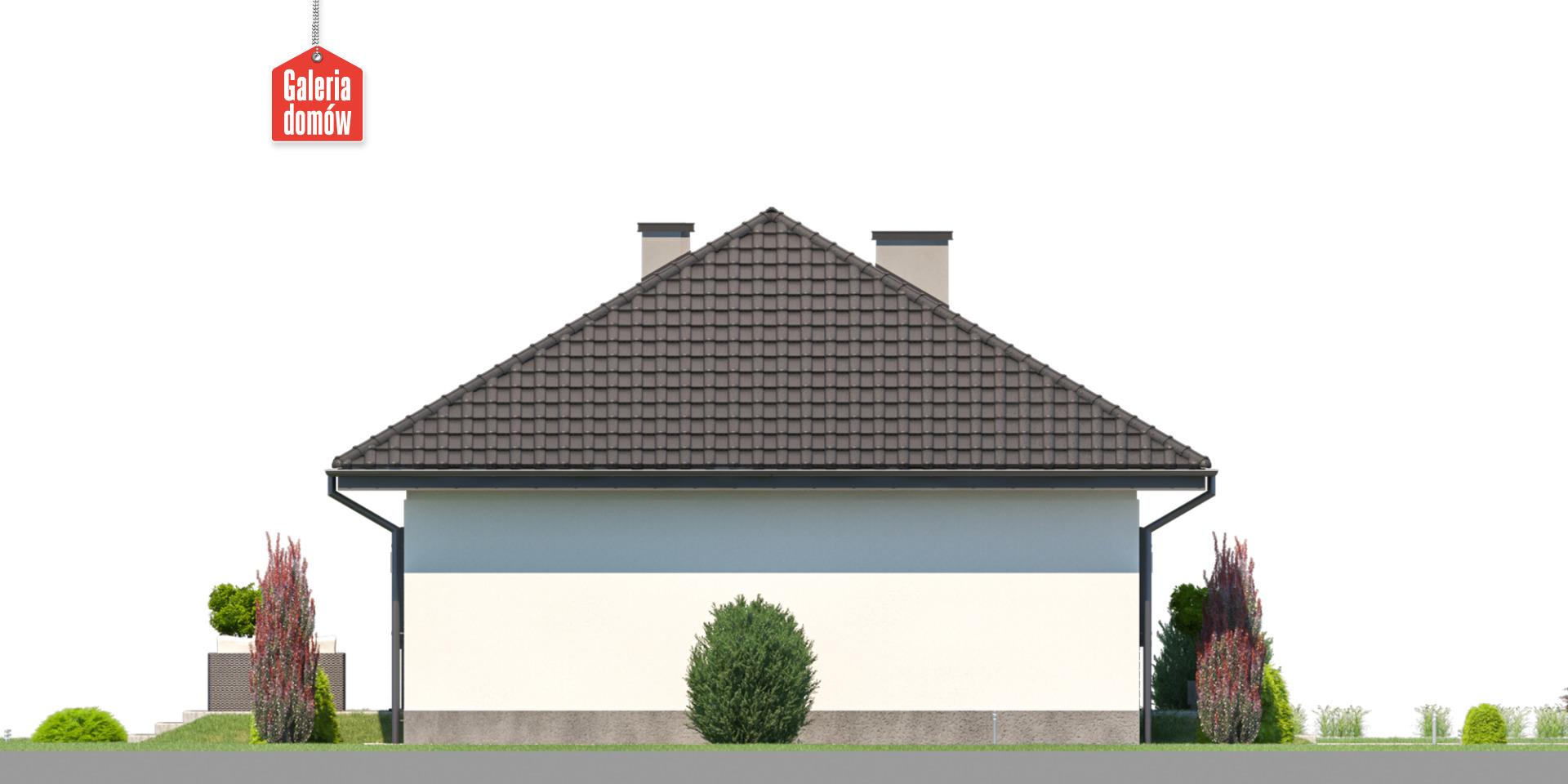 Dom przy Bukowej 44 - elewacja lewa