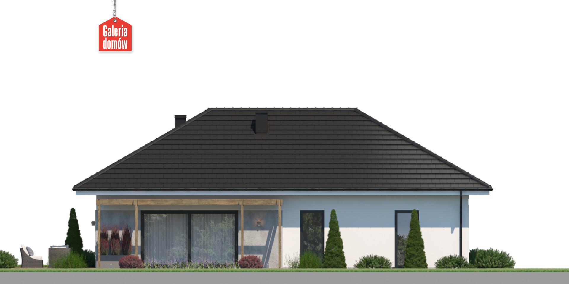 Dom przy Bukowej 46 - elewacja tylna