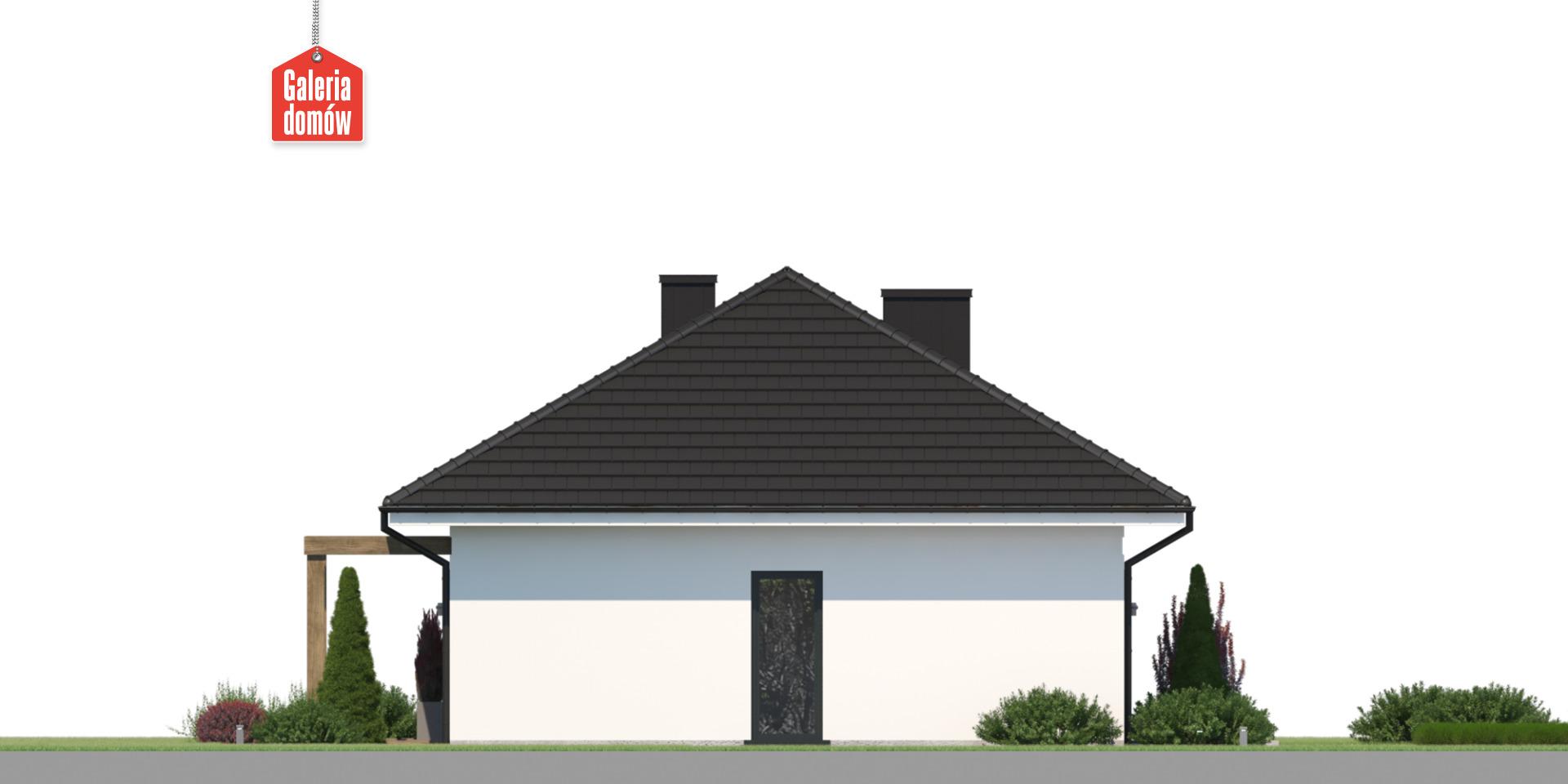 Dom przy Bukowej 46 - elewacja lewa