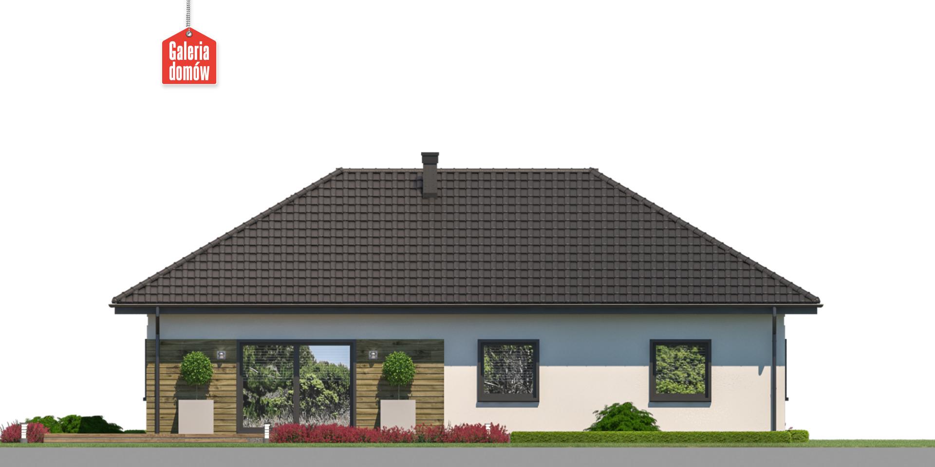 Dom przy Bukowej 47 - elewacja tylna