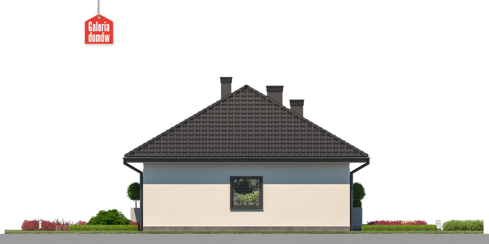 Dom przy Bukowej 47 - elewacja lewa