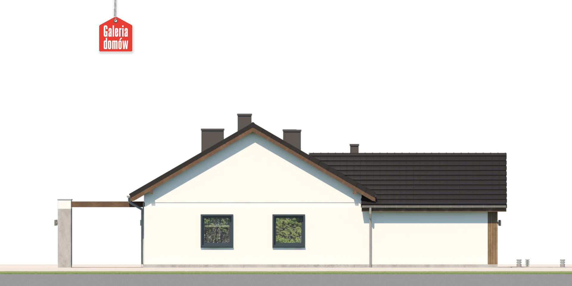 Dom przy Bukowej 48 - elewacja lewa