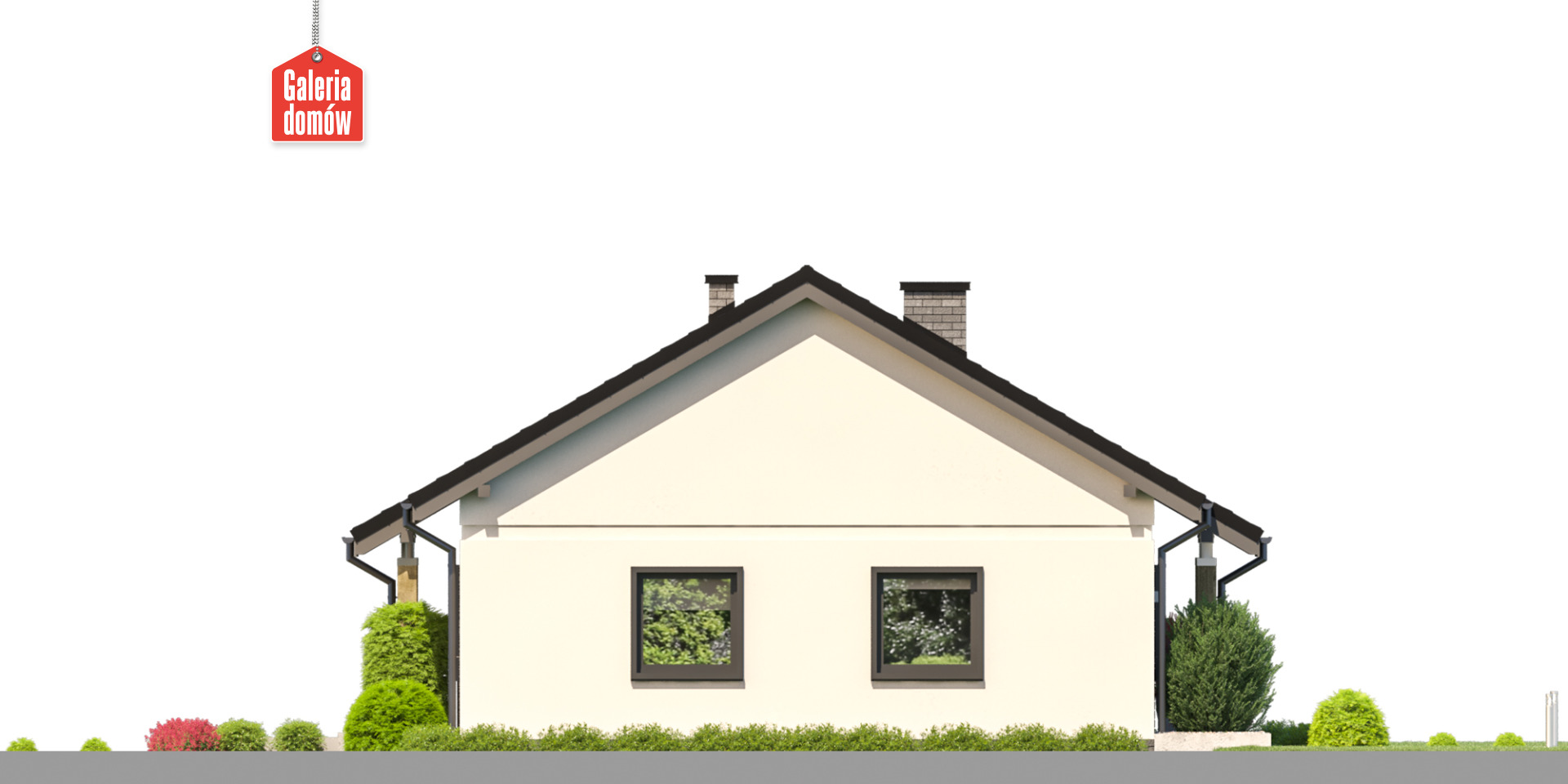 Dom przy Bukowej 49 - elewacja lewa
