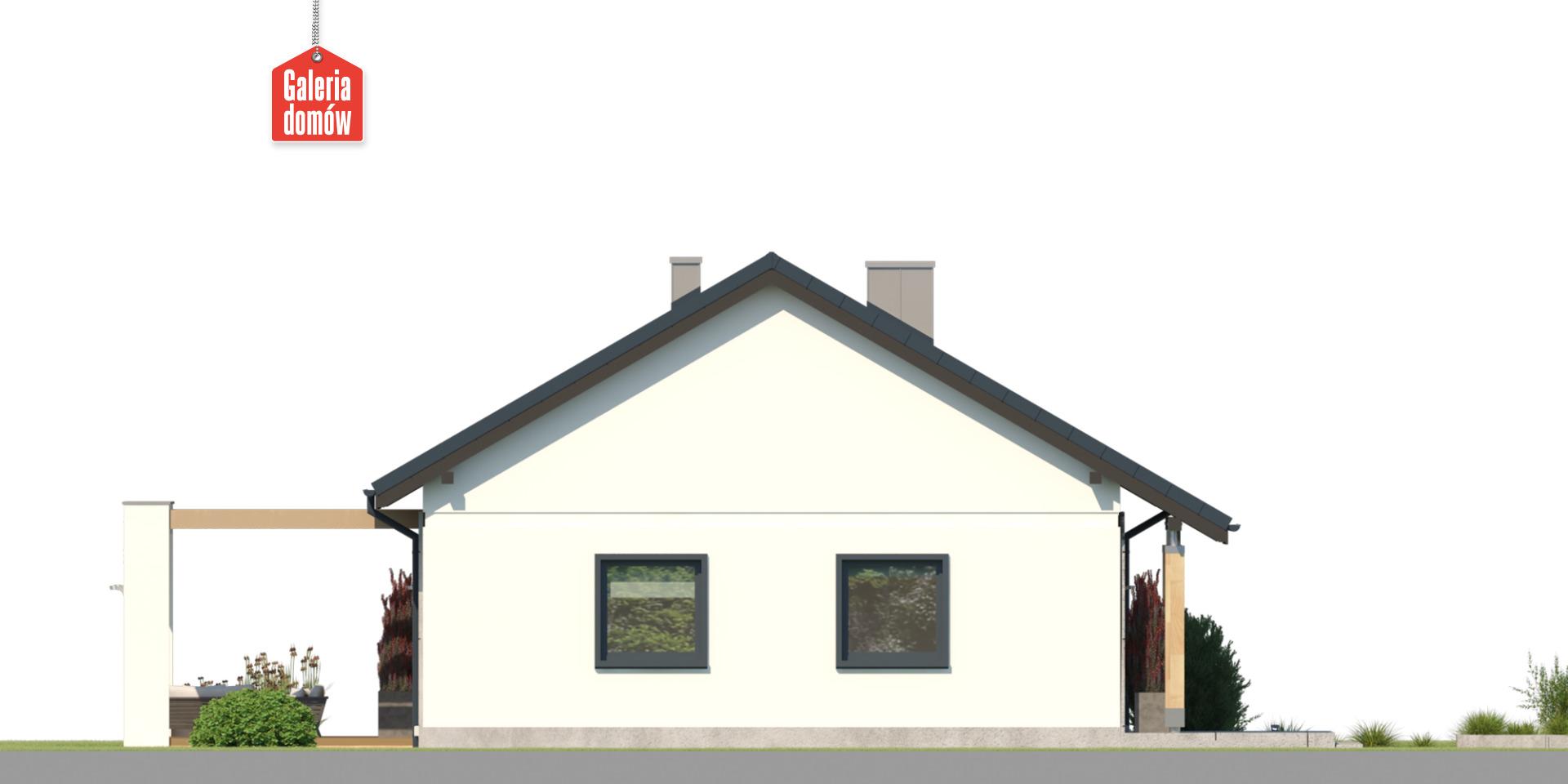 Dom przy Bukowej 50 - elewacja lewa