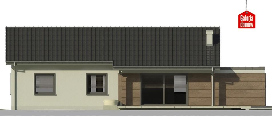 Dom przy Bukowej 6 - elewacja tylna