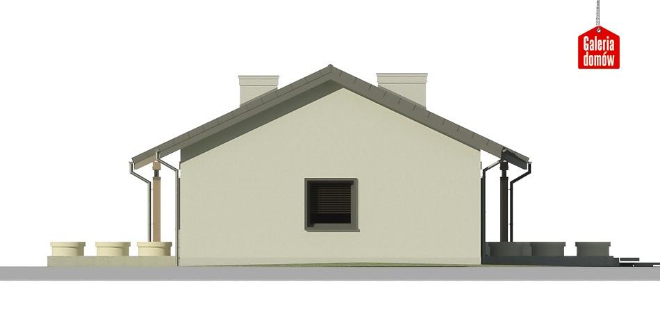 Dom przy Bukowej 6 - elewacja lewa