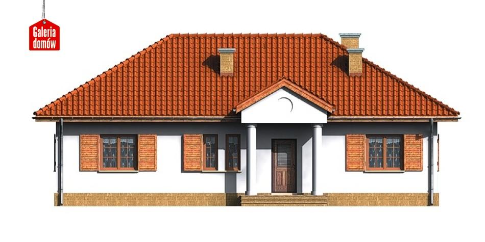 Dom przy Bukowej - elewacja frontowa