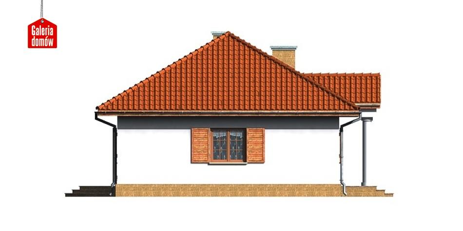 Dom przy Bukowej - elewacja lewa