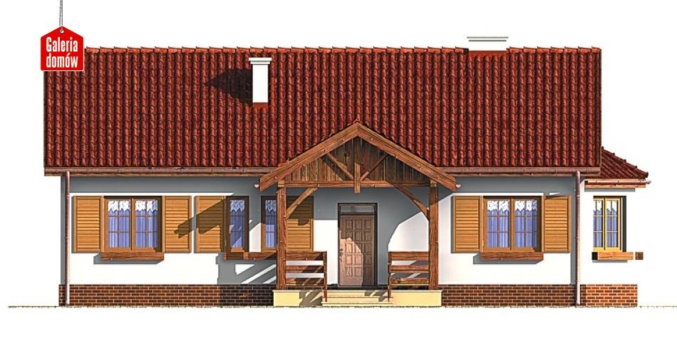 Dom przy Chabrowej - elewacja frontowa