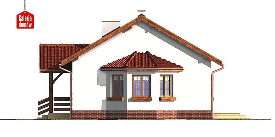 Dom przy Chabrowej - elewacja prawa