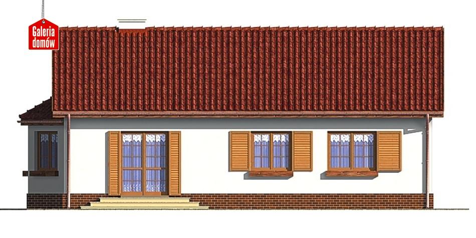 Dom przy Chabrowej - elewacja tylna