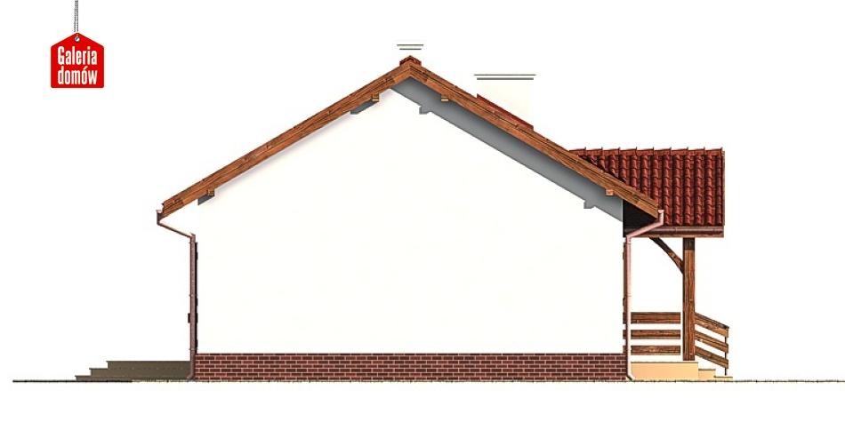 Dom przy Chabrowej - elewacja lewa