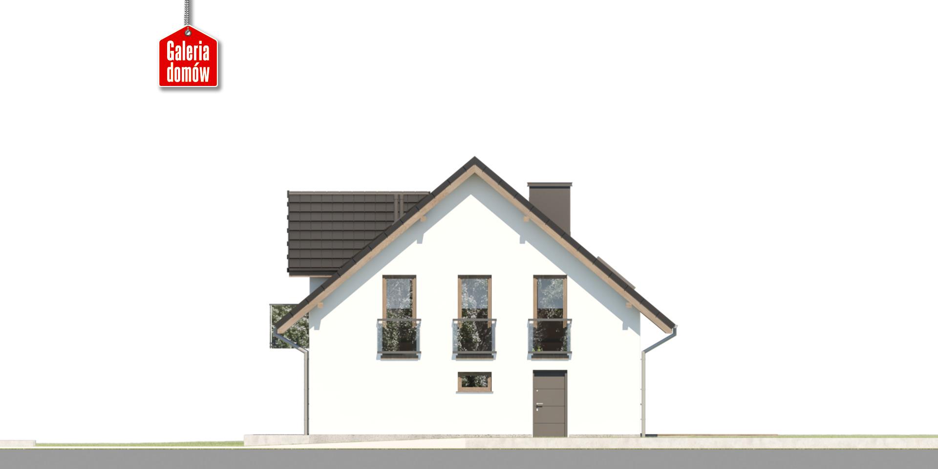 Dom przy Cyprysowej 101 - elewacja prawa