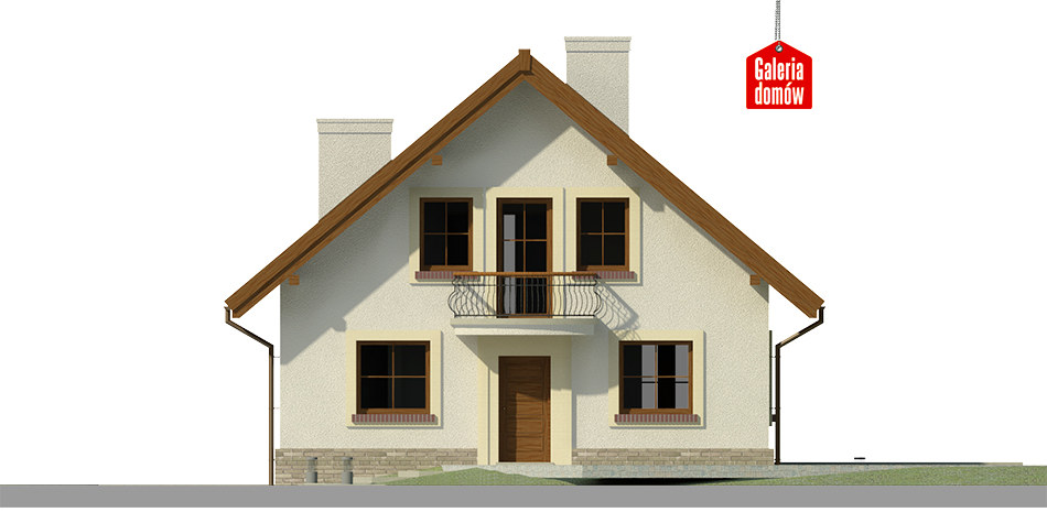 Dom przy Cyprysowej 12 K - elewacja frontowa