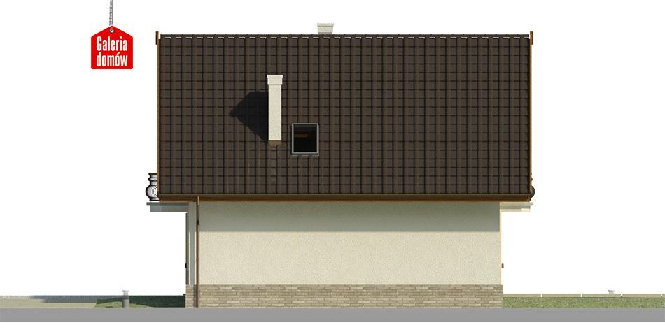 Dom przy Cyprysowej 12 K - elewacja prawa