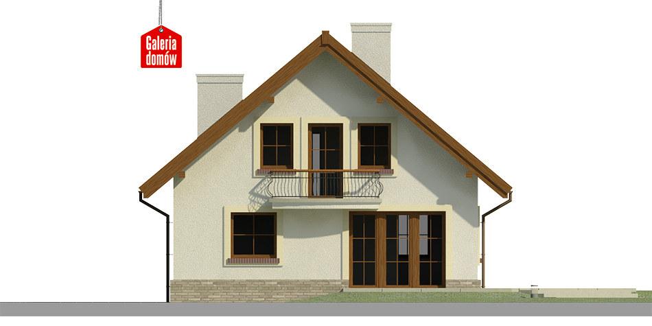 Dom przy Cyprysowej 12 K - elewacja tylna