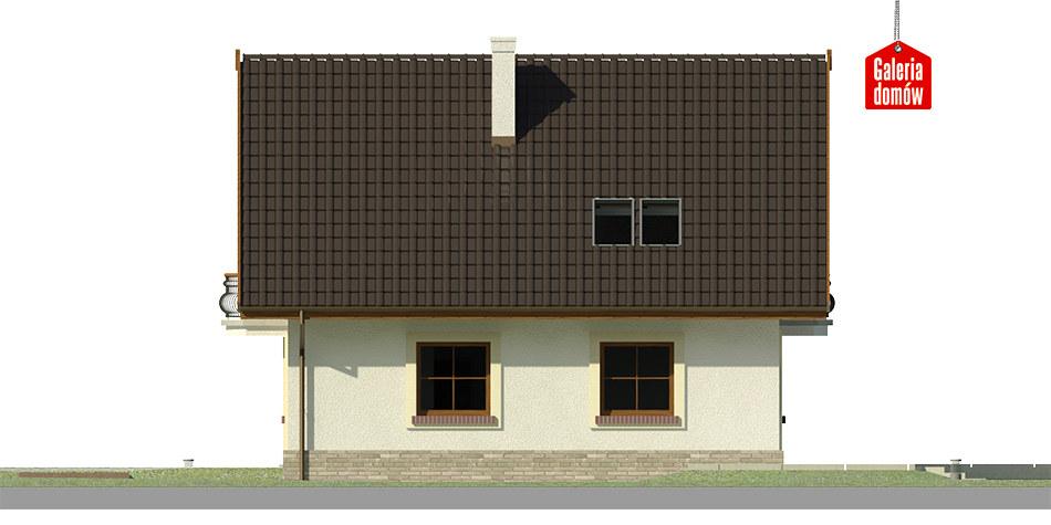 Dom przy Cyprysowej 12 K - elewacja lewa