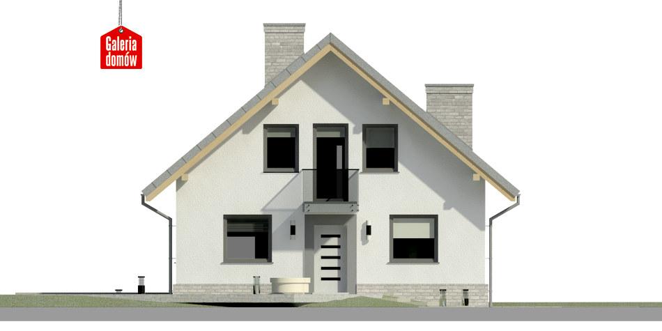 Dom przy Cyprysowej 12 N - elewacja frontowa