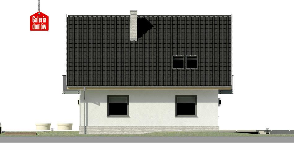 Dom przy Cyprysowej 12 N - elewacja lewa