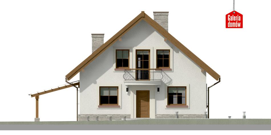 Dom przy Cyprysowej 12 P - elewacja frontowa