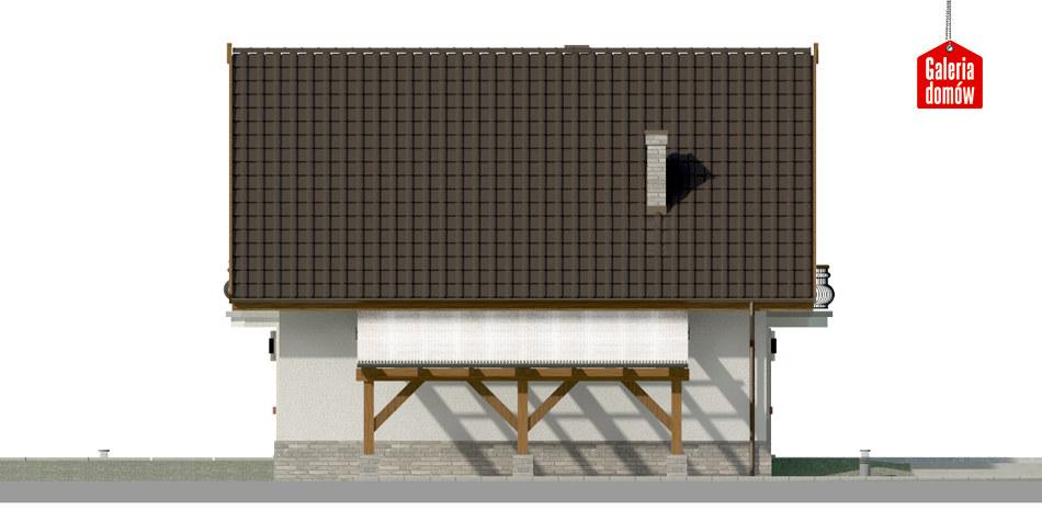 Dom przy Cyprysowej 12 P - elewacja prawa