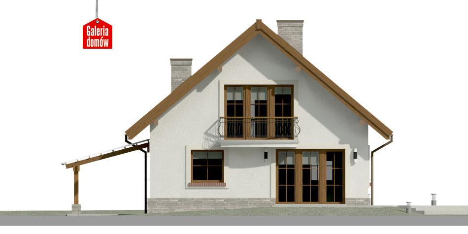 Dom przy Cyprysowej 12 P - elewacja tylna