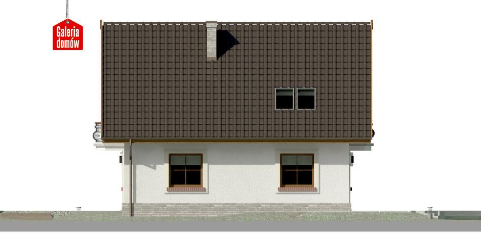 Dom przy Cyprysowej 12 P - elewacja lewa