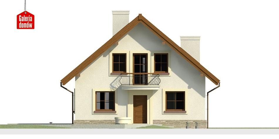 Dom przy Cyprysowej 12 - elewacja frontowa