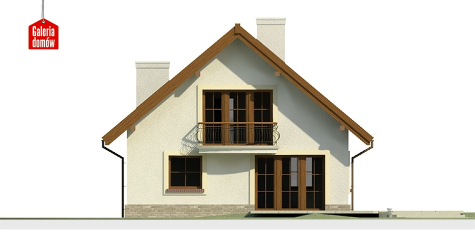 Dom przy Cyprysowej 12 - elewacja tylna