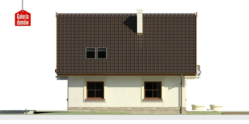 Dom przy Cyprysowej 12 - elewacja lewa
