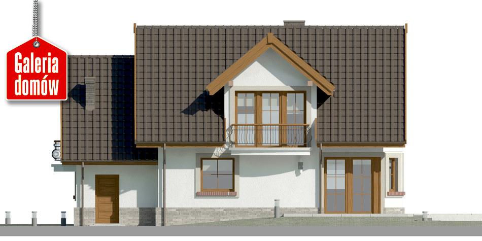 Dom przy Cyprysowej 14 D - elewacja tylna