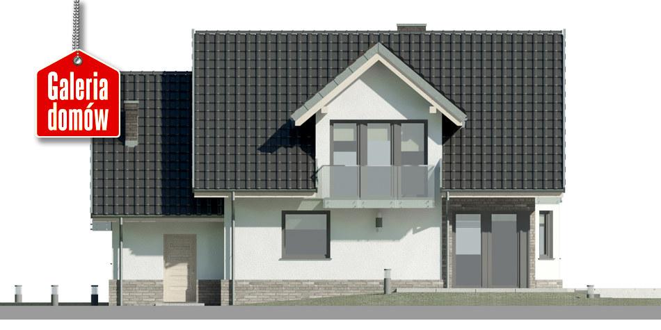 Dom przy Cyprysowej 14 DN - elewacja tylna