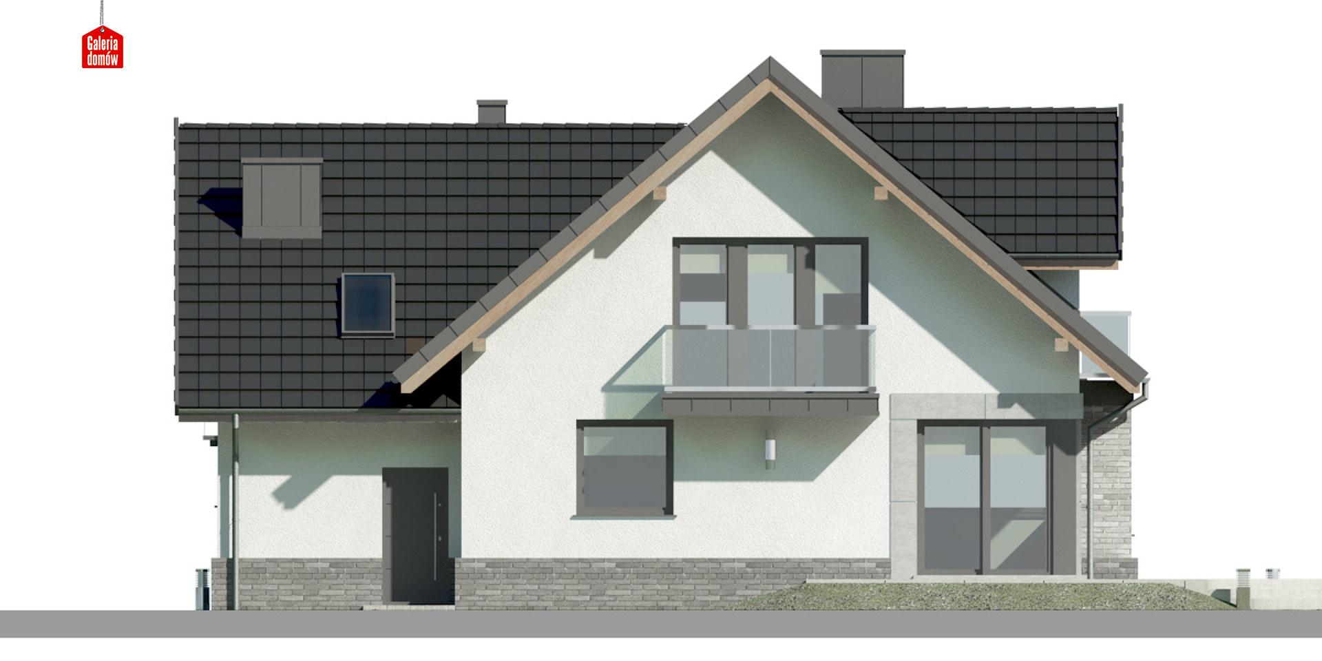 Dom przy Cyprysowej 14 K - elewacja tylna