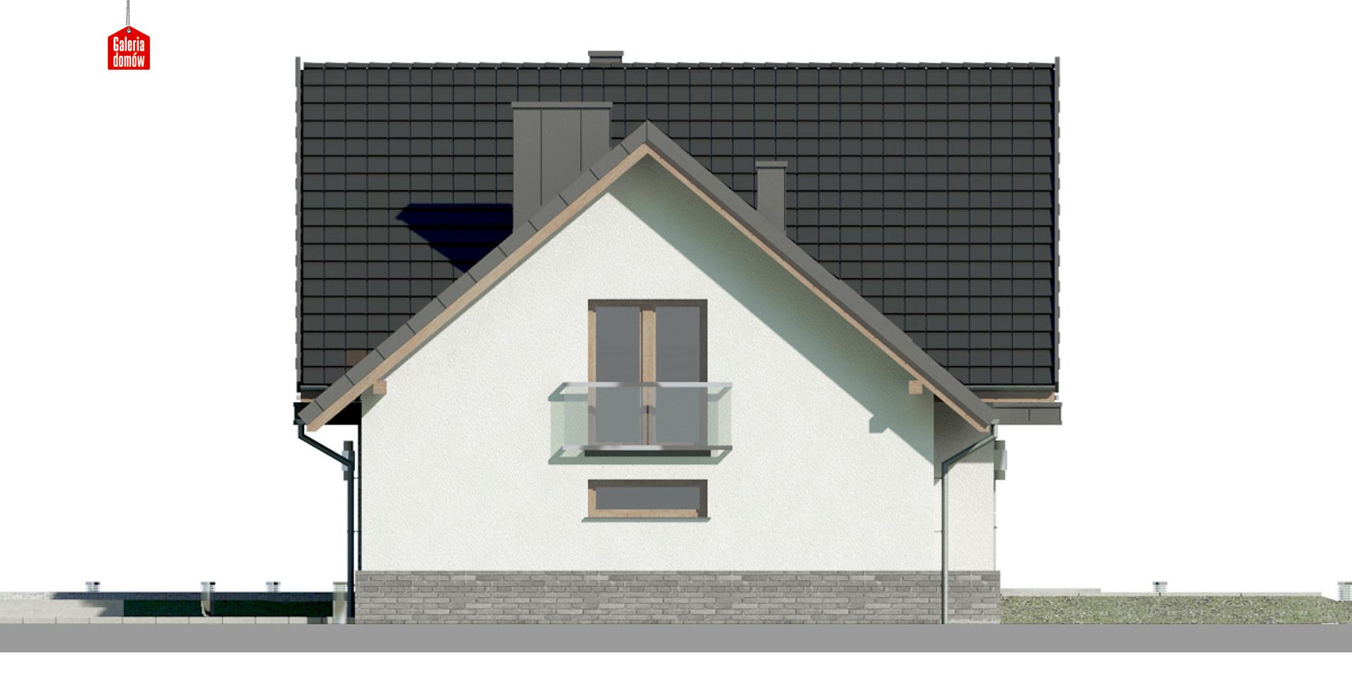 Dom przy Cyprysowej 14 K2 - elewacja prawa