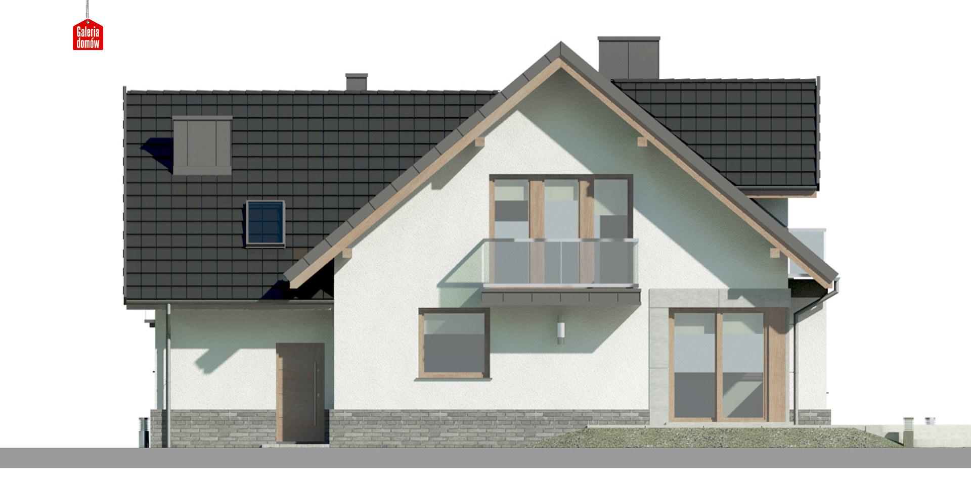 Dom przy Cyprysowej 14 K2 - elewacja tylna