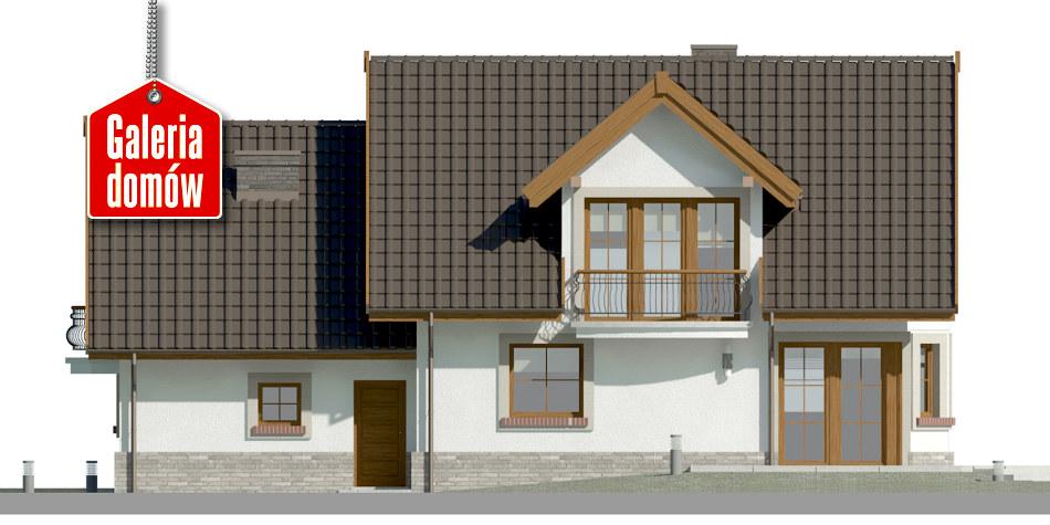 Dom przy Cyprysowej 15 D - elewacja tylna
