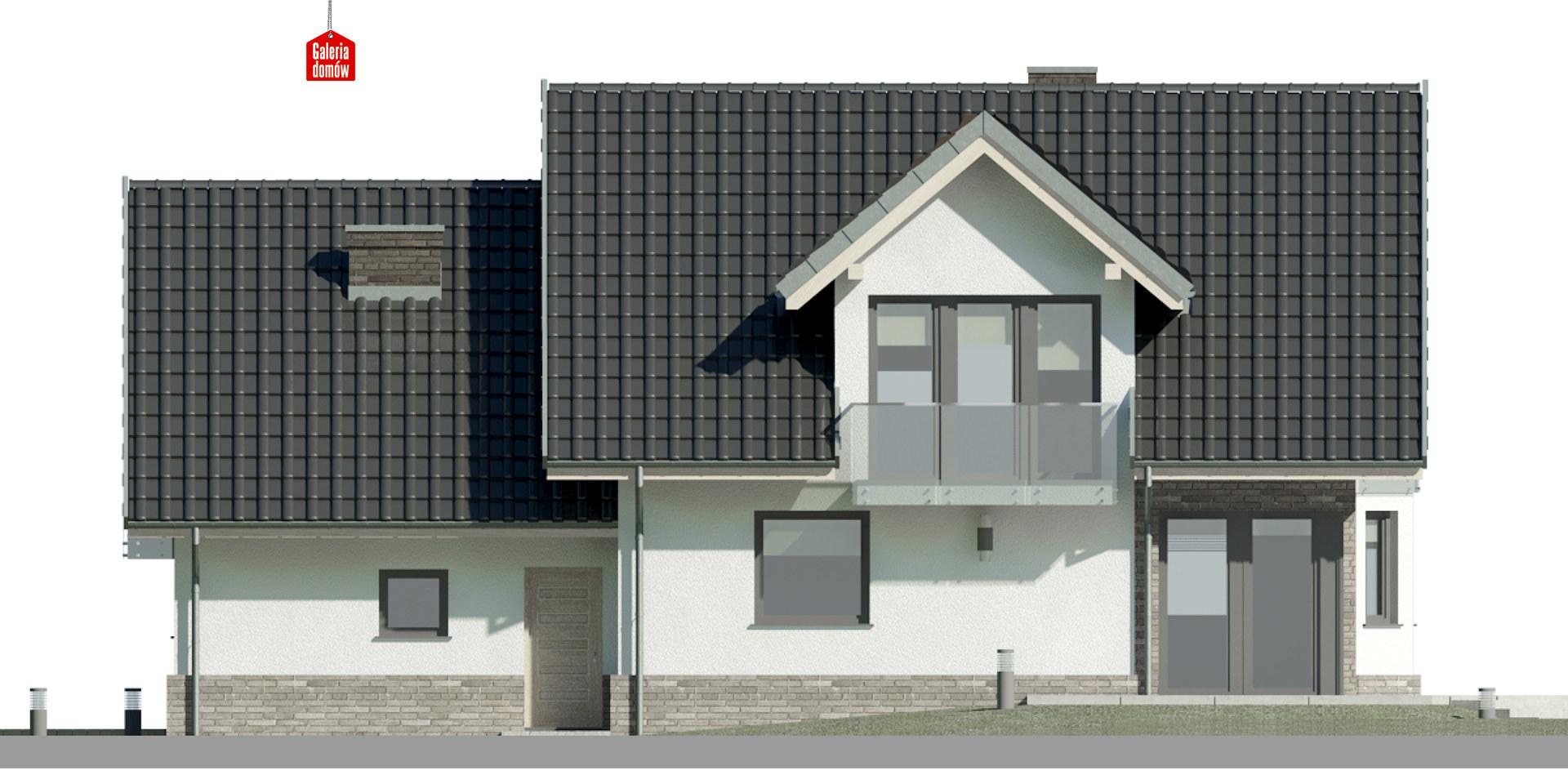 Dom przy Cyprysowej 15 DN - elewacja tylna
