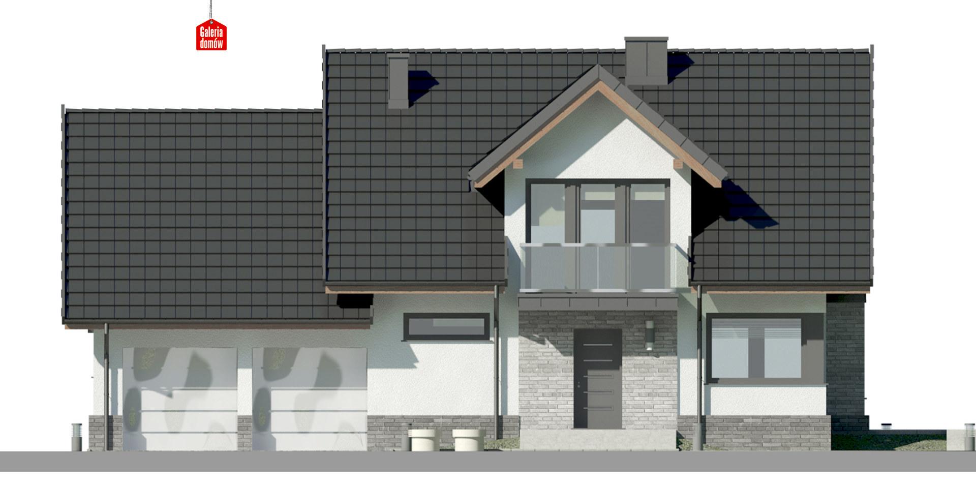 Dom przy Cyprysowej 15 DN2 - elewacja frontowa