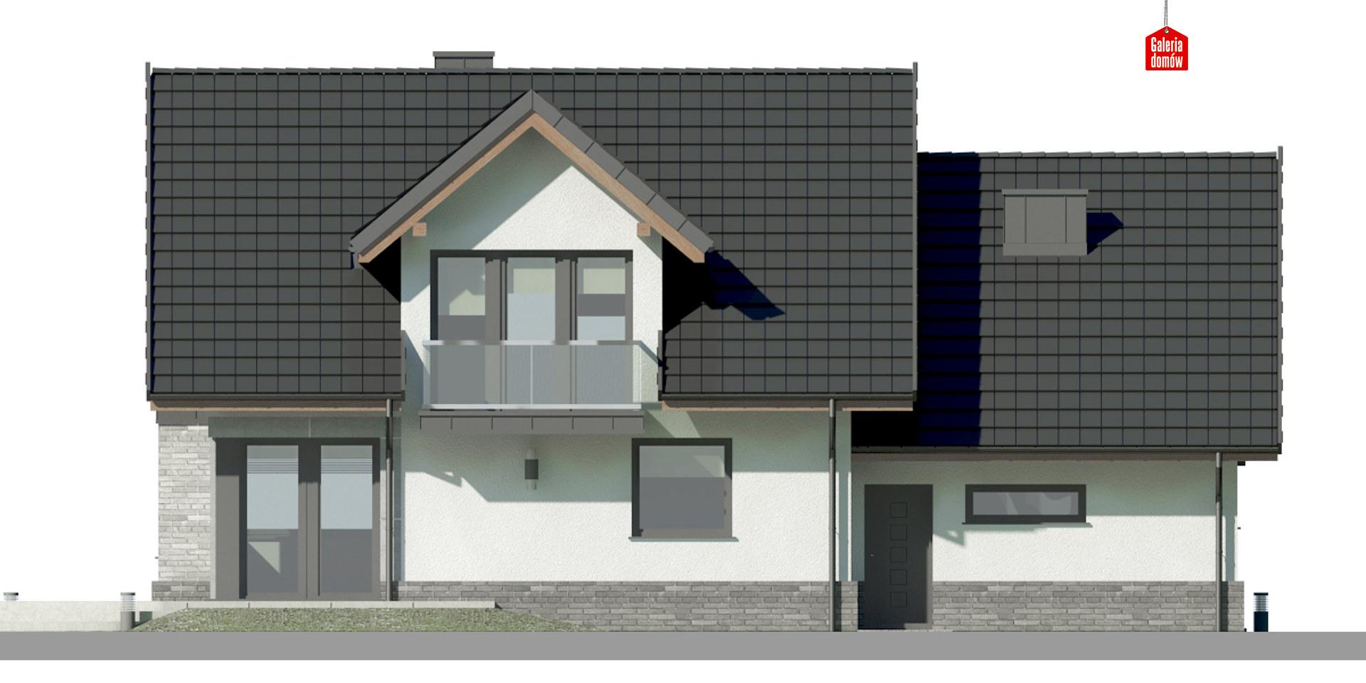 Dom przy Cyprysowej 15 DN2 - elewacja tylna