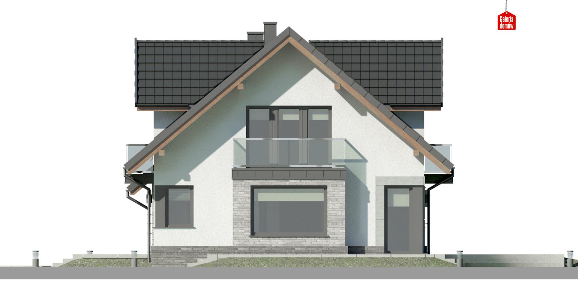 Dom przy Cyprysowej 15 DN2 - elewacja lewa