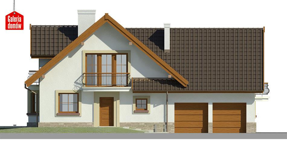 Dom przy Cyprysowej 15 K - elewacja frontowa