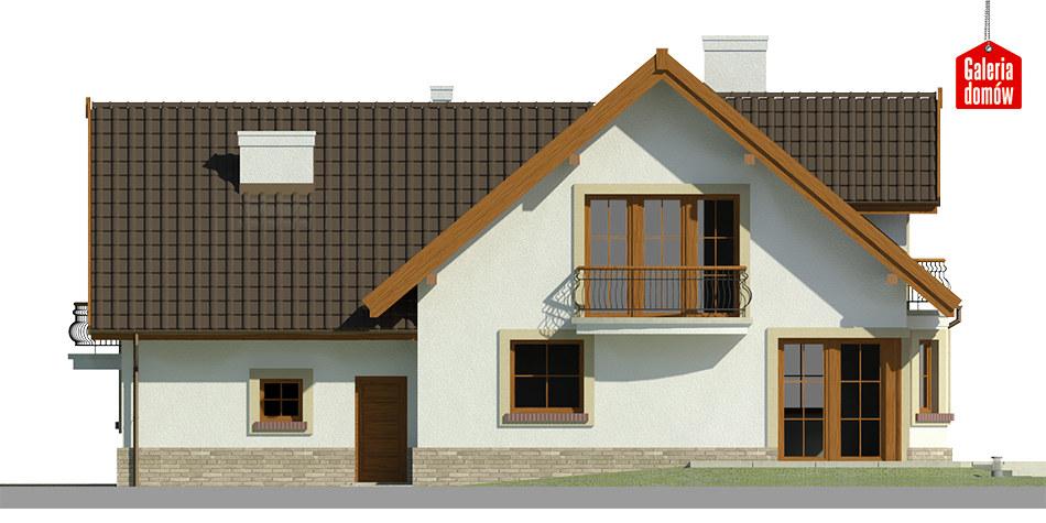 Dom przy Cyprysowej 15 K - elewacja tylna