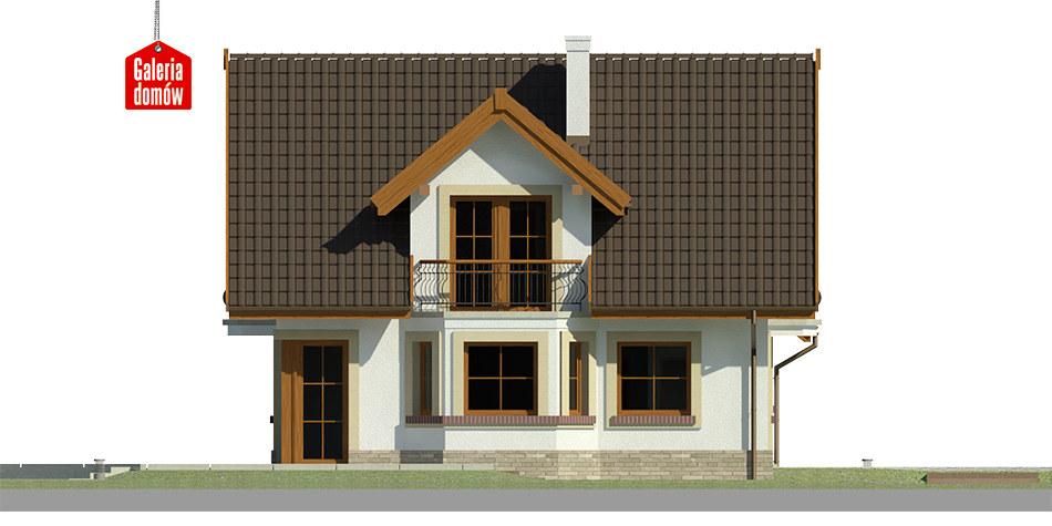 Dom przy Cyprysowej 15 K - elewacja lewa