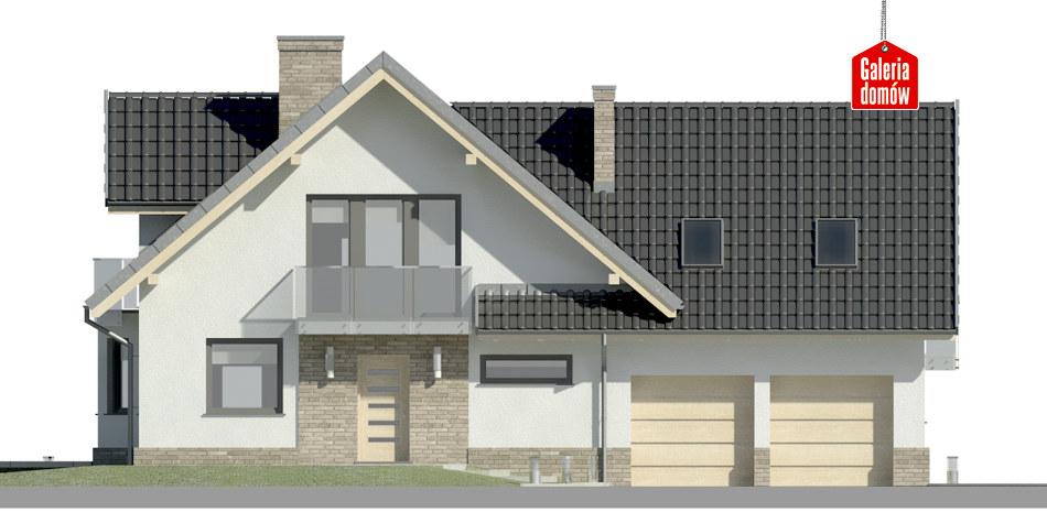 Dom przy Cyprysowej 15 K2 - elewacja frontowa