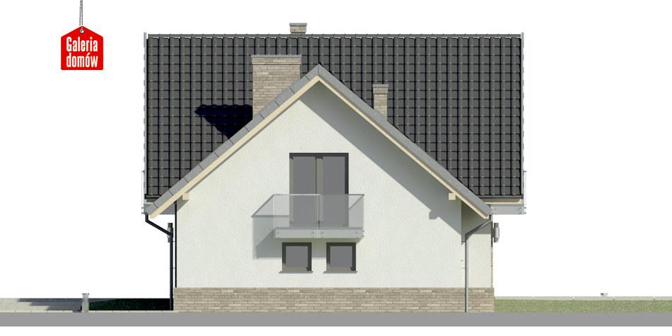 Dom przy Cyprysowej 15 K2 - elewacja prawa