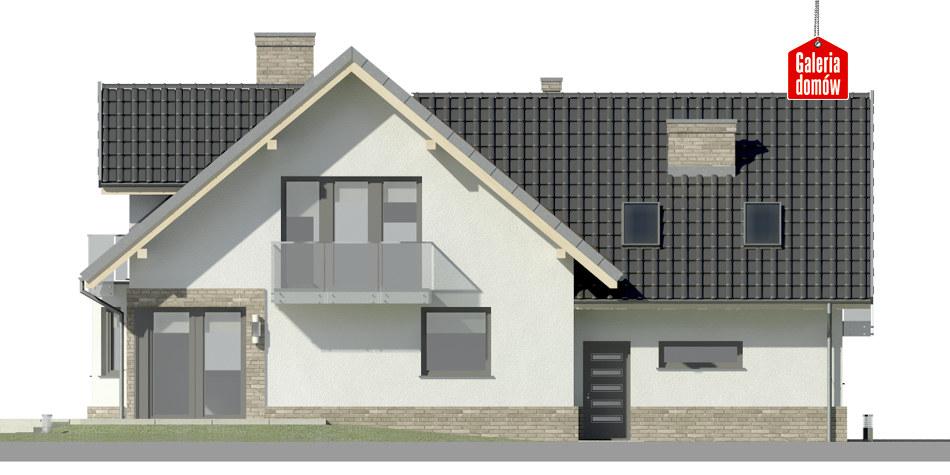 Dom przy Cyprysowej 15 K2 - elewacja tylna