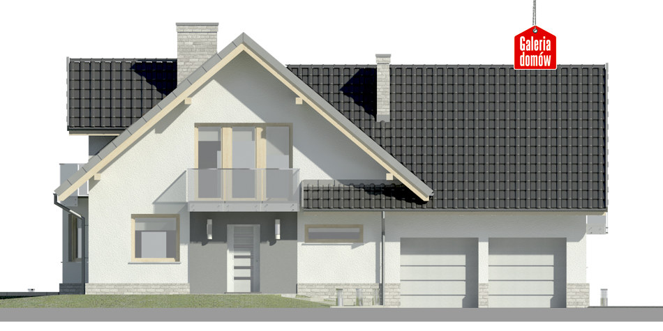 Dom przy Cyprysowej 15 K3 - elewacja frontowa