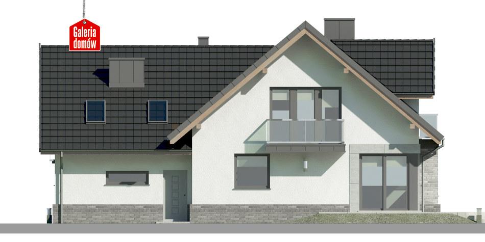 Dom przy Cyprysowej 15 K4 - elewacja tylna