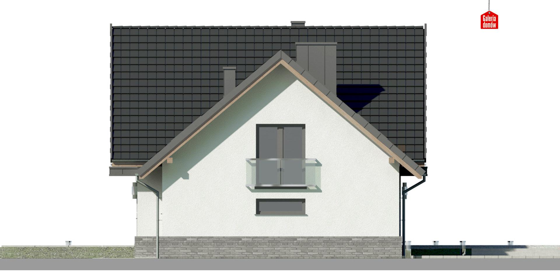 Dom przy Cyprysowej 15 K5 - elewacja prawa