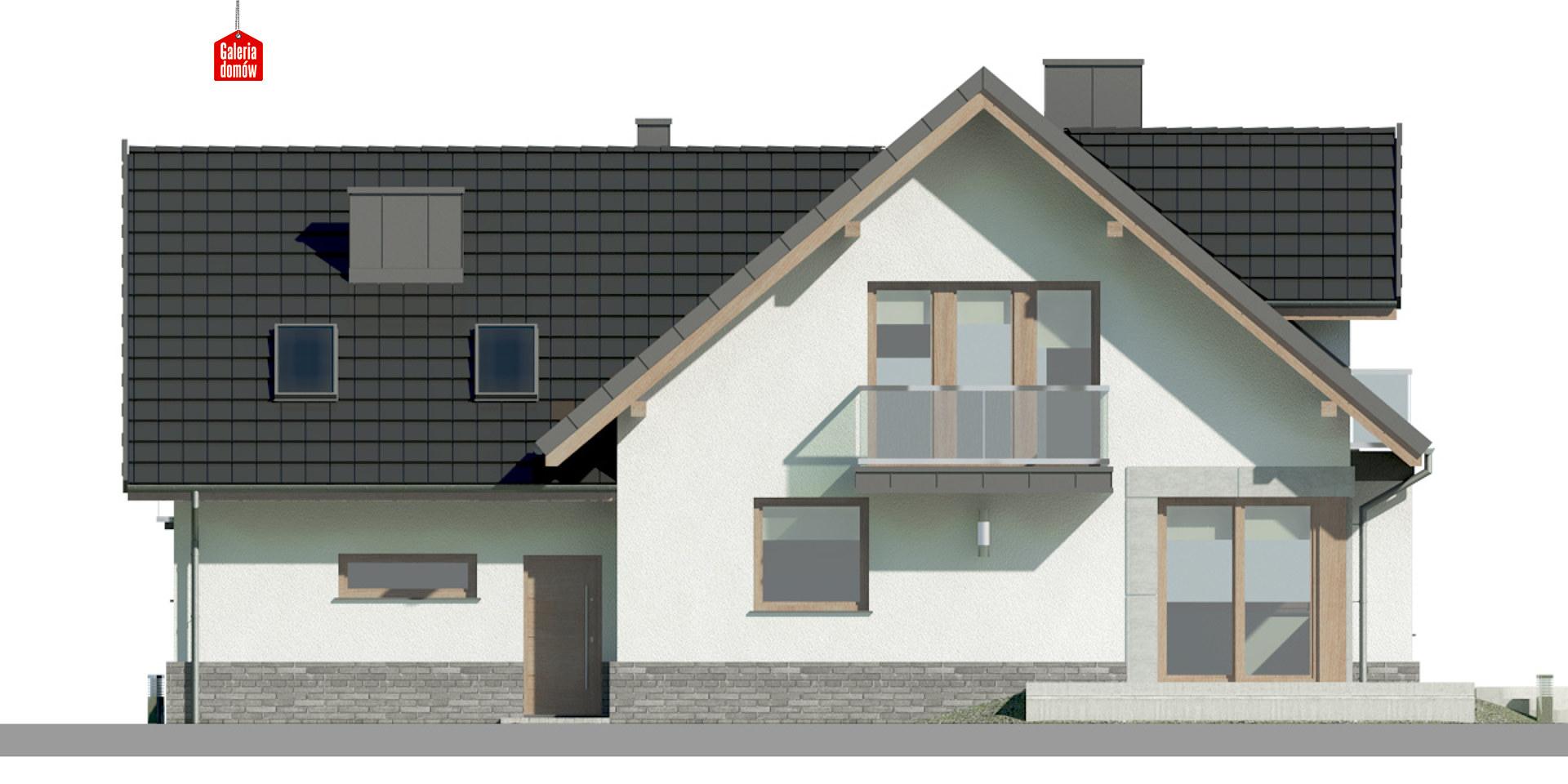 Dom przy Cyprysowej 15 K6 - elewacja tylna